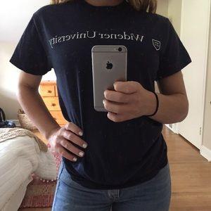 Gildan Tops - Navy widener university t shirt